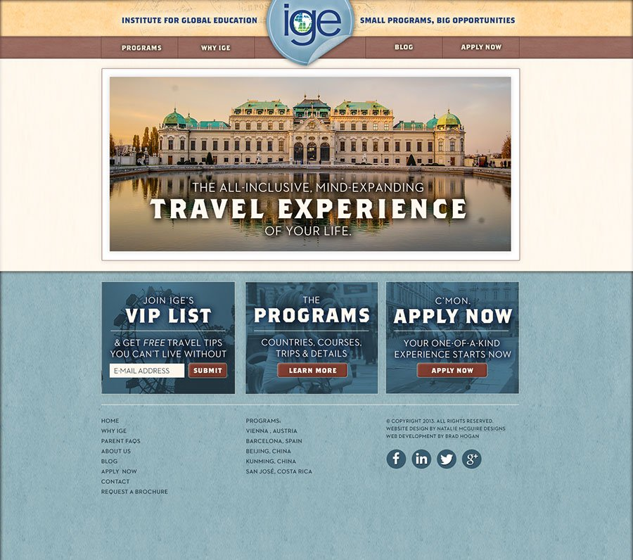 ige-study-abroad-website-design